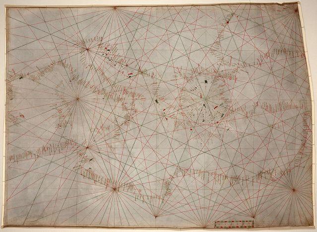 14th c. portolan chart (mediterranean)